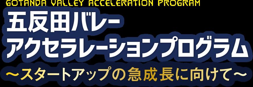 五反田バレーアクセラレーションプログラム スタートアップの急成長に向けて
